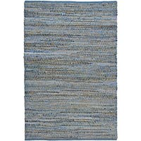 Hand Woven Blue Jeans Denim Rug 8x10' - 8' x 10'