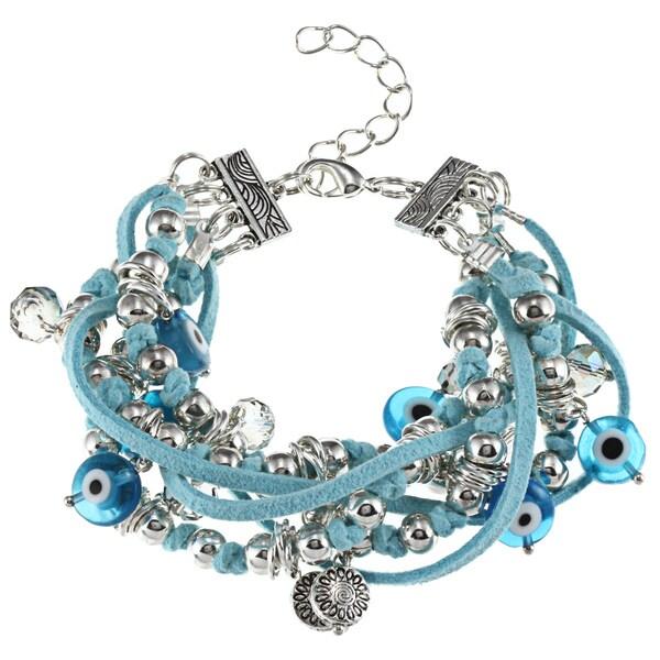 Turquoise Evil Eye Multi-strand Bracelet (Guatemala)