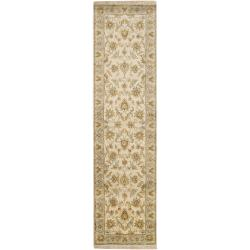Hand-knotted Green Timm New Zealand Wool Rug (2'6 x 10')