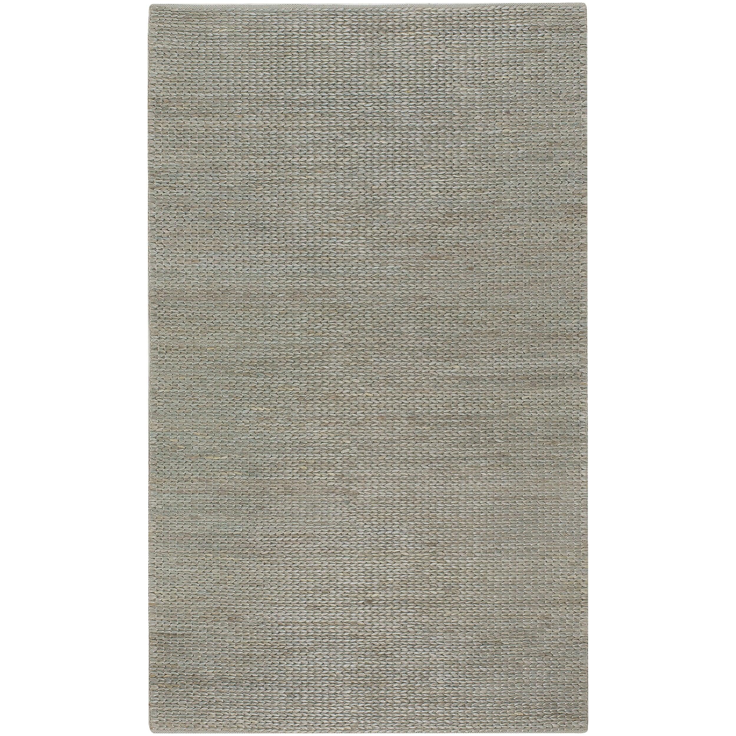 Hand Woven Gray Tropics Natural Fiber Jute Braided Texture