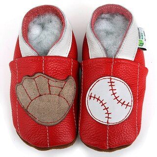 Baseball Soft Sole Leather Baby Shoes (2 options available)