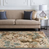 Laurel Creek Oswin Transitional Woven Beige Rug  - 5'3 x 7'6