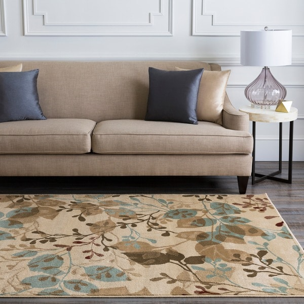"Transitional Woven Beige Parrish Rug (5'3"" x 7'6"")"