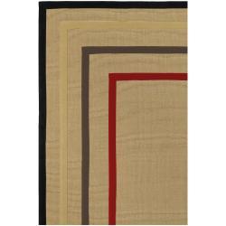 Hand-woven Navy Sophie B Natural Fiber Jute Rug (9' x 13') - Thumbnail 1