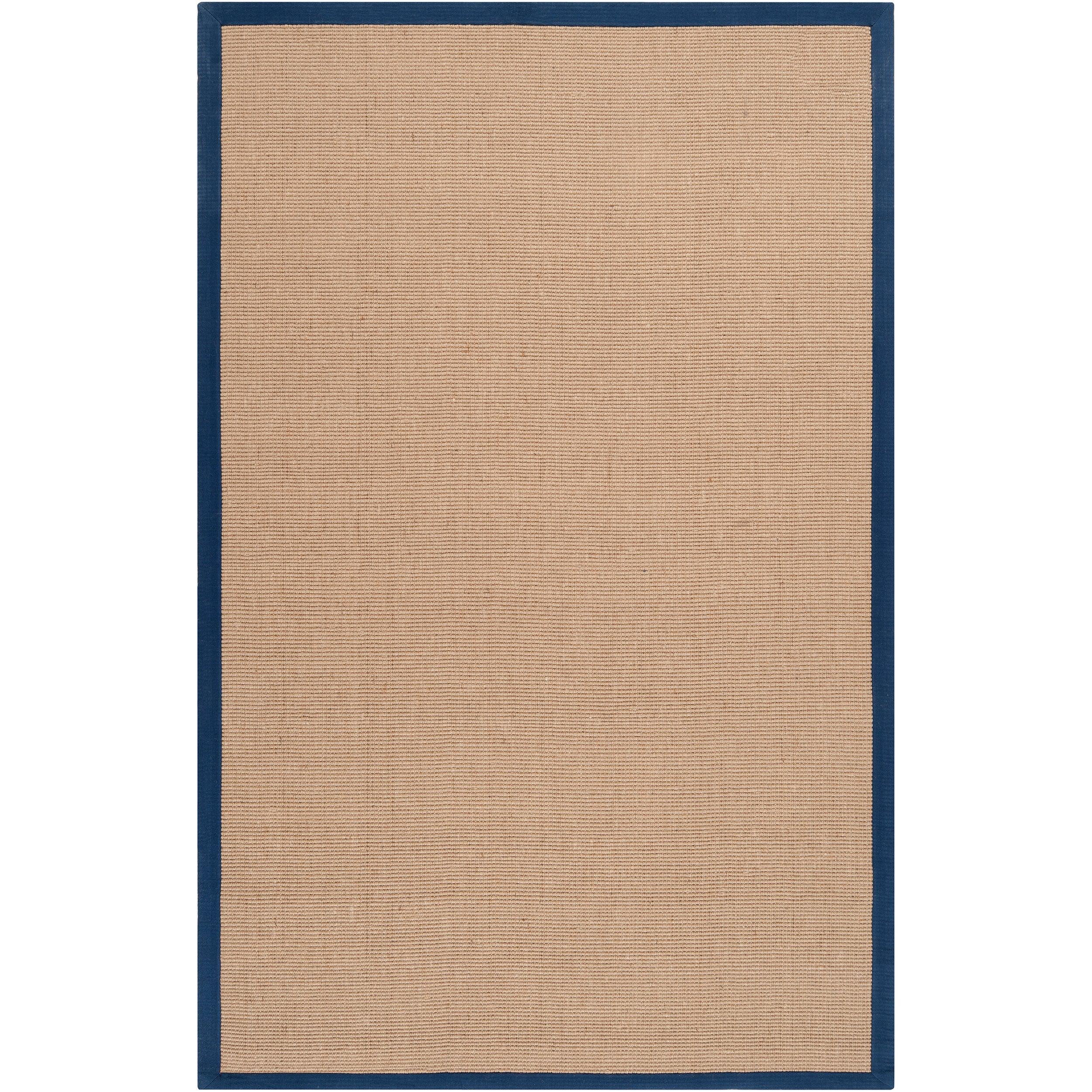 Hand-woven Navy Sophie B Natural Fiber Jute Area Rug (5' x 8')