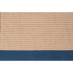 Hand-woven Navy Sophie B Natural Fiber Jute Rug (5' x 8') - Thumbnail 2