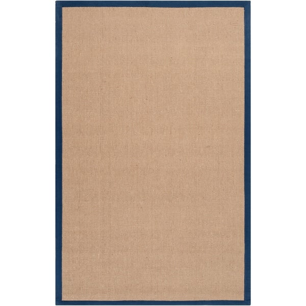Hand-woven Navy Sophie B Natural Fiber Jute Area Rug - 5' x 8'