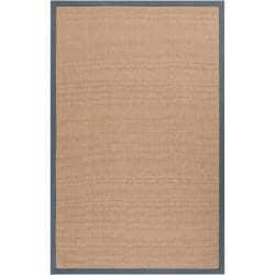 Hand-woven Gray Sophie A Natural Fiber Jute Area Rug (9' x 13') - Thumbnail 0