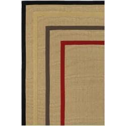 Hand-woven Gray Sophie A Natural Fiber Jute Rug (5' x 8') - Thumbnail 1
