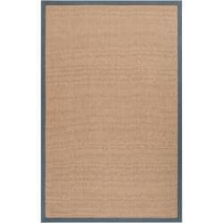 Hand-woven Gray Sophie A Natural Fiber Jute Area Rug (5' x 8') - Thumbnail 0