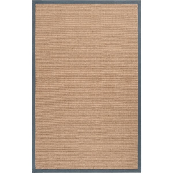 Hand-woven Gray Sophie A Natural Fiber Jute Area Rug - 5' x 8'