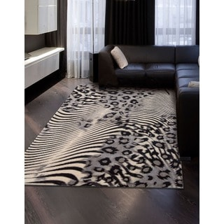"Nourison Utopia Beige Abstract Accent Rug (2'6"" x 4'2"")"
