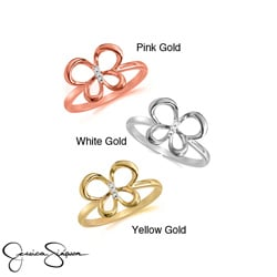 10k Gold Diamond Accent Butterfly Ring