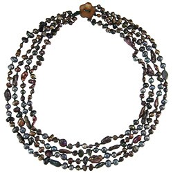 Multi-colored Freshwater Pearl Multi-strand Necklace (5-8 mm)