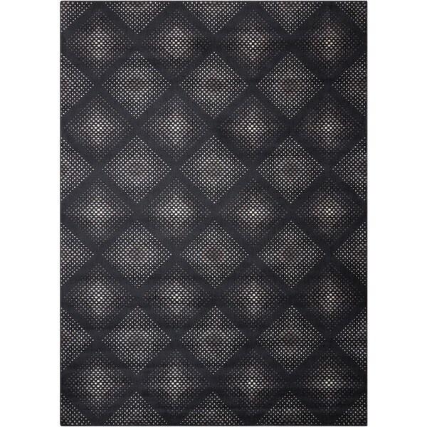 Nourison Utopia Black Abstract Rug (2'6 x 4'2)