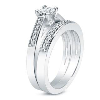 Auriya 14k Gold 1ct TDW Round Diamond Bridal Ring Set (J-K, I2)