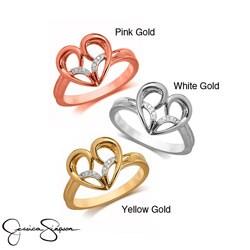 10k Gold Diamond Accent Fashion Heart Ring
