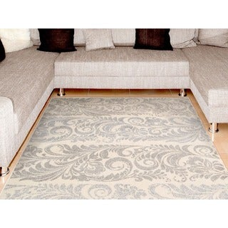 Nourison Utopia Ivory Abstract Accent Rug (2'6 x 4'2)