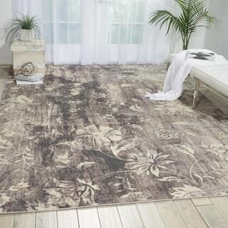 Nourison Utopia Grey Abstract Rug (2'6 x 4'2)