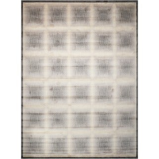 Nourison Utopia Ivory Square-Pattern Abstract Rug (2'6 x 4'2)
