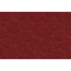 Candice Olson Loomed Red Scrumptious Geometric Circles Wool Rug (9' x 13')