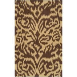 Hand-woven Brown Sugarford Wool Rug (8' x 11')
