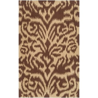 Hand-woven Brown Sugarford Wool Area Rug - 8' x 11'