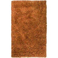 Hand-woven Red Ratford New Zealand Wool Shag Area Rug (8' x 10')