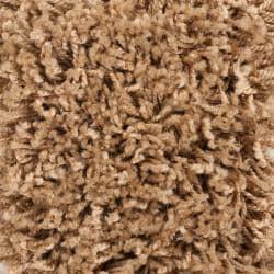 "Transitional Woven Tan Luxurious Soft Shag Rug (7'10"" x 10'6"")"