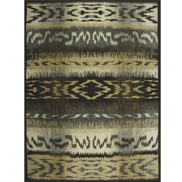 Somette Avante First Nation Grey Rug (9' x 12')