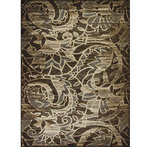 Somette Avante Sweet Remembrance Chocolate Rug (9' x 12')