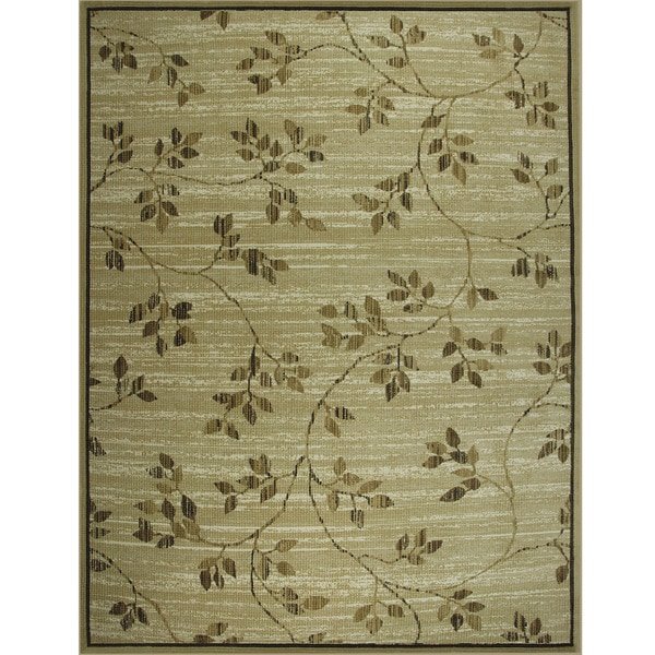 Somette Avante Garden Elegance Beige Rug (9' x 12')