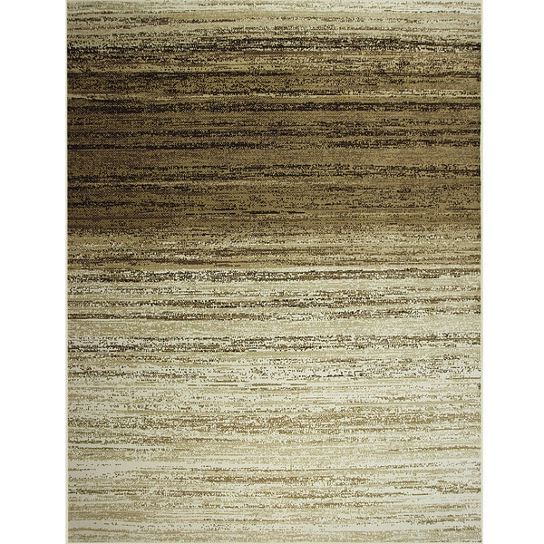 Somette Avante Strictly Linear Beige Rug (9' x 12')