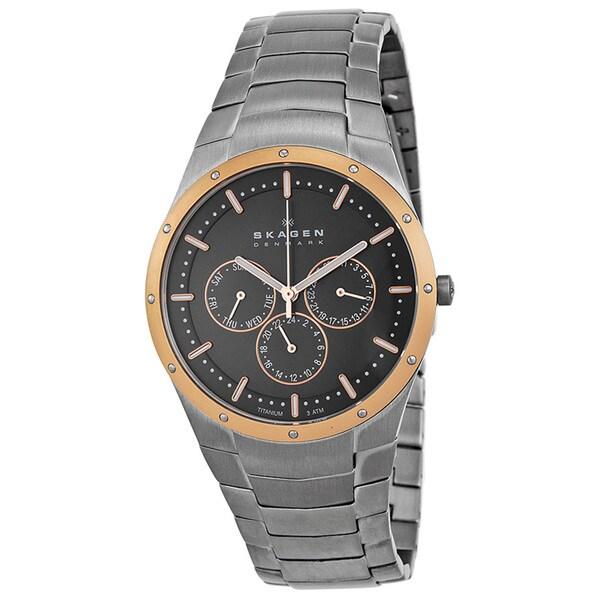 Skagen Men's Rose-gold Titanium Watch