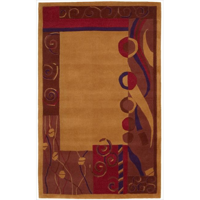 Nourison Hand-tufted Dimensions Rust Rug (3'6 x 5'6)