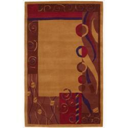 Nourison Hand-tufted Dimensions Rust Rug (3'6 x 5'6) - 3'6 x 5'6 - Thumbnail 0