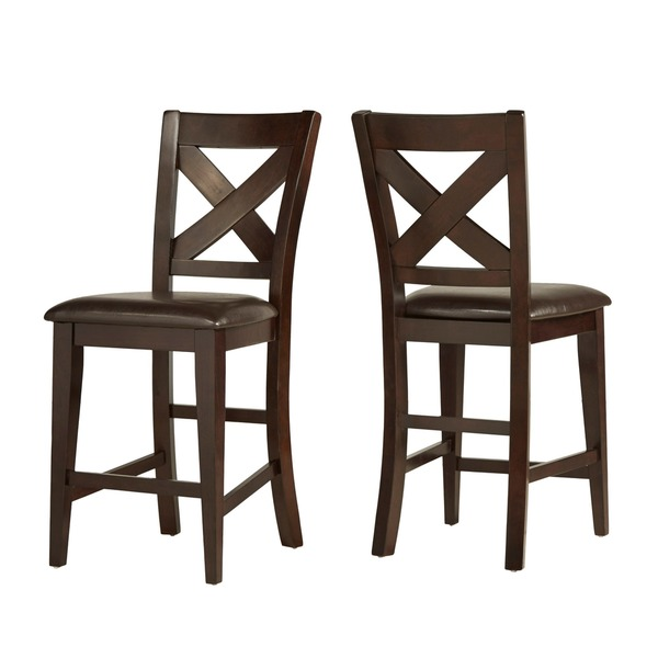 Acton Merlot X Back 7 Piece Counter Height Dining Set By INSPIRE Q Classic    Free Shipping Today   Overstock.com   14238125