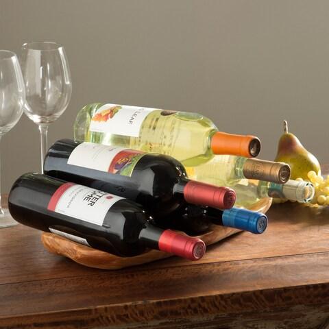 Handmade Enrico Root Wood Wine Rack (China)