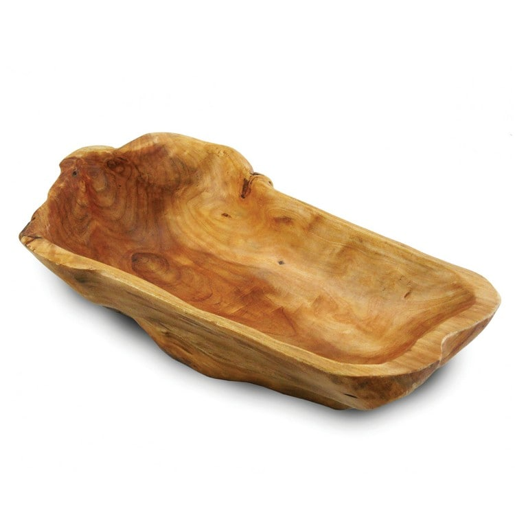 Enrico Root Wood Long Bowl