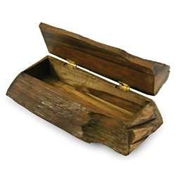 Handmade Enrico Large Driftwood Hinged Box (Thailand)