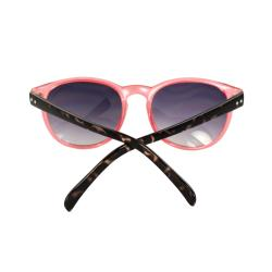 Retro Round Fashion Sunglasses Orange With Brown Leopard Frame Purple Black Lenses For Women And Men - Thumbnail 2