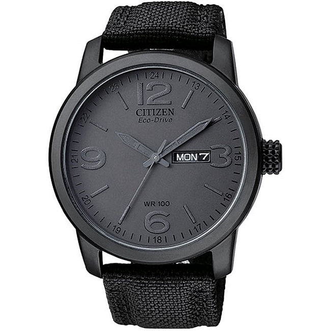 Citizen Men's BM847500F Eco-Drive Black IP Stainless Steel Watch