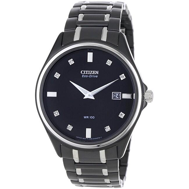 Citizen Men's Eco-drive Diamond Watch