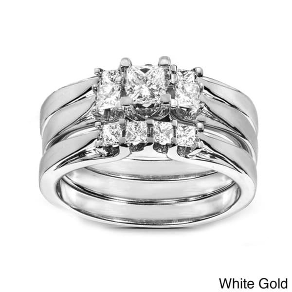 Annello by Kobelli 14k Gold 3/4ct TDW Diamond 3-piece Bridal Ring Set (H-I, I1-I2)