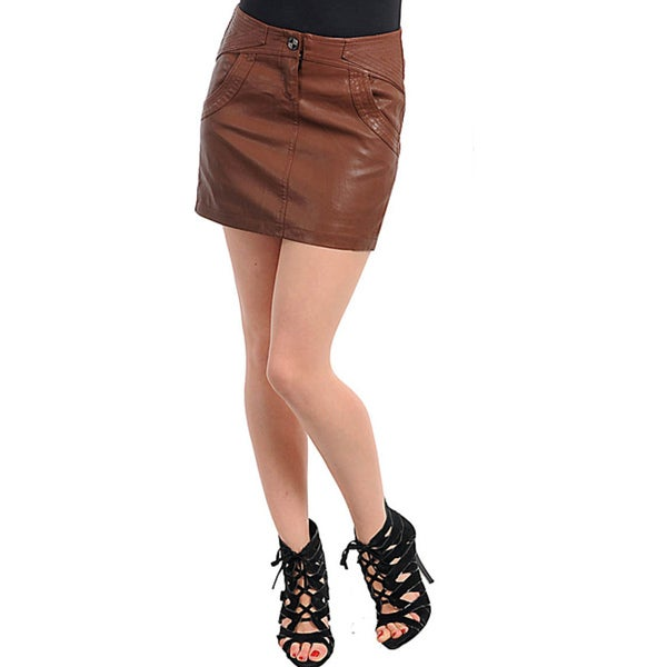 d210a2b61 Shop Stanzino Women's Plus-size Coffee Brown Mini Skirt - Free ...