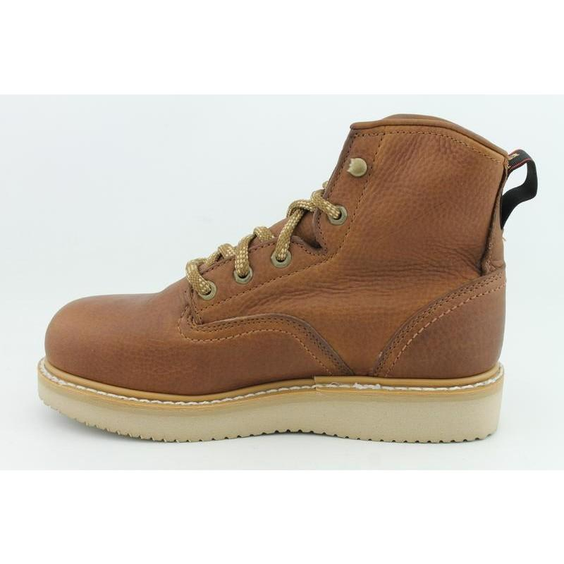 "Georgia Men's 6"" Wedge Brown Occupational - Thumbnail 1"