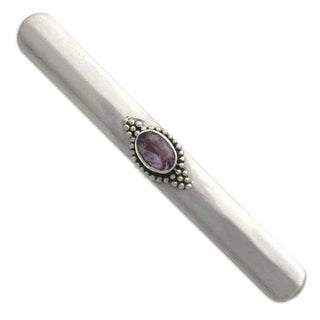 Sterling Silver 'Bold Spirit' Amethyst Tie Clip (Indonesia)