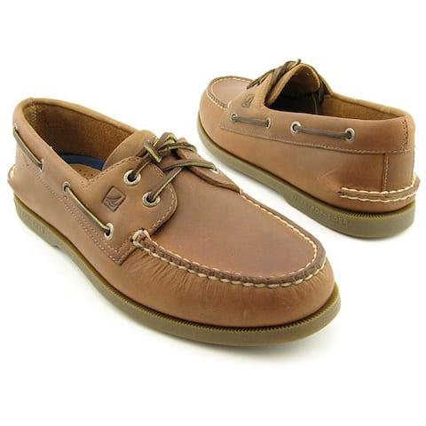 Sperry Men's Authentic Original 2-Eye Boat Shoe Size 10.5 Sahara Leather