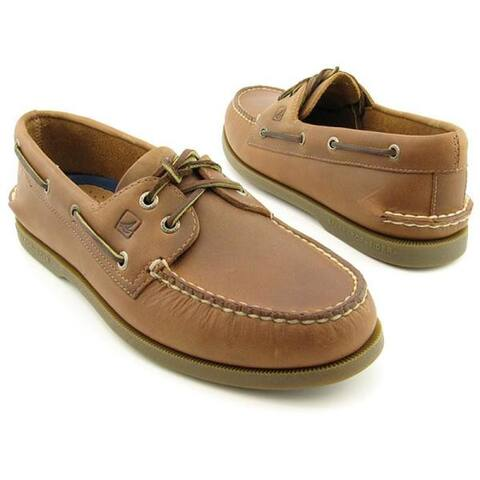 Sperry Mens Authentic Original 2-Eye Boat Shoe Size 10.5 Sahara Leather