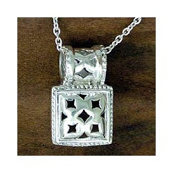 Handmade Sterling Silver 'Secret Chamber' Necklace (India)